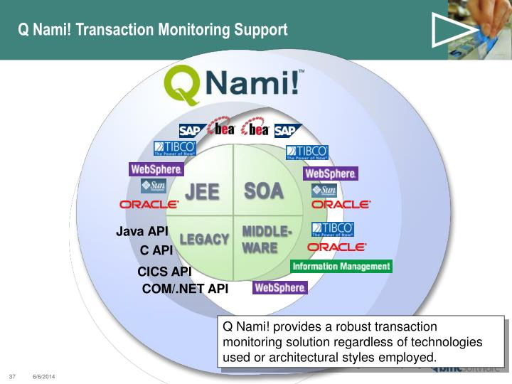 Q Nami! Transaction Monitoring Support