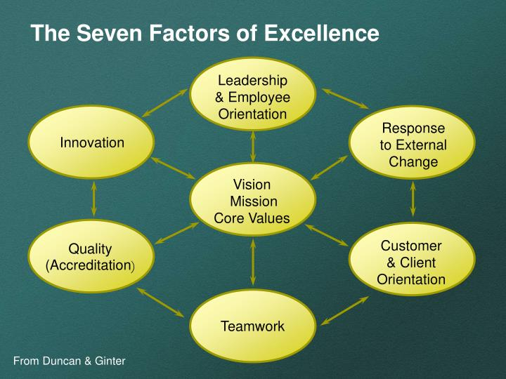 The Seven Factors of Excellence