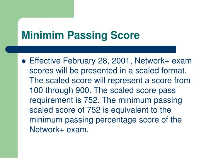 Minimim Passing Score