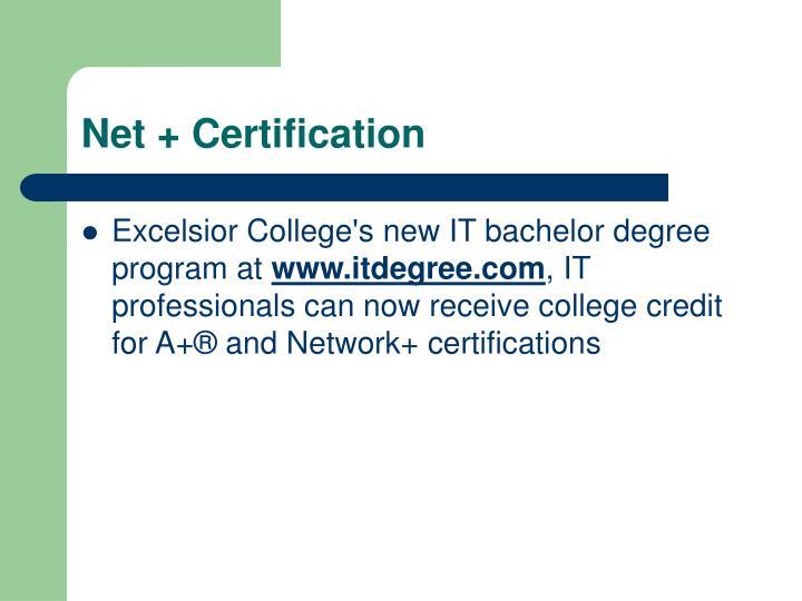 Net + Certification