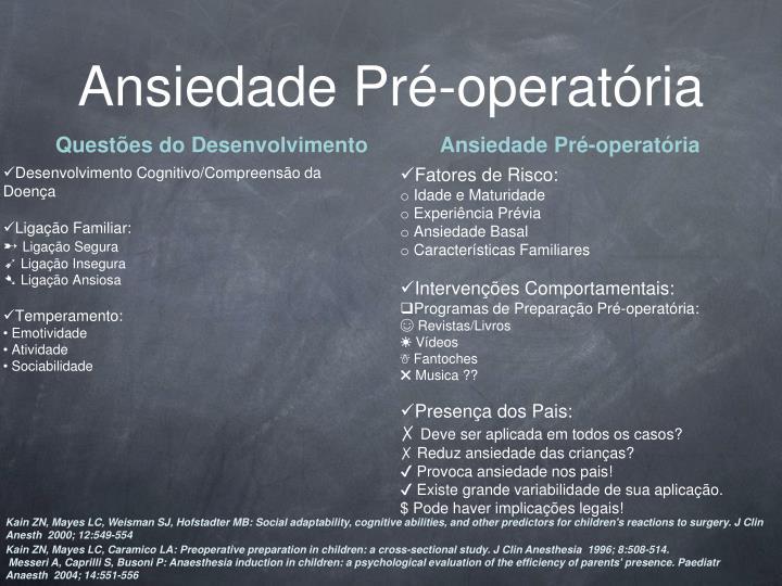 Ansiedade Pré-operatória
