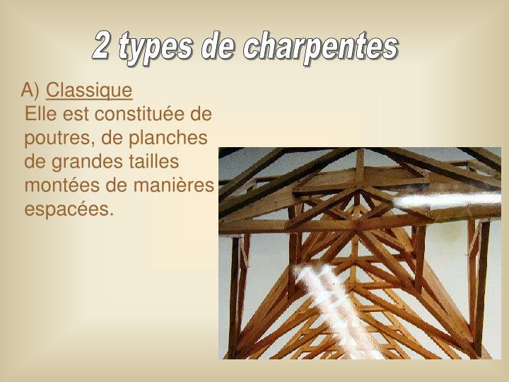 2 types de charpentes