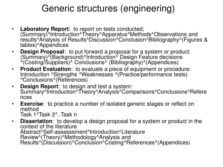Generic structures (engineering)