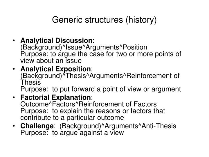 Generic structures (history)