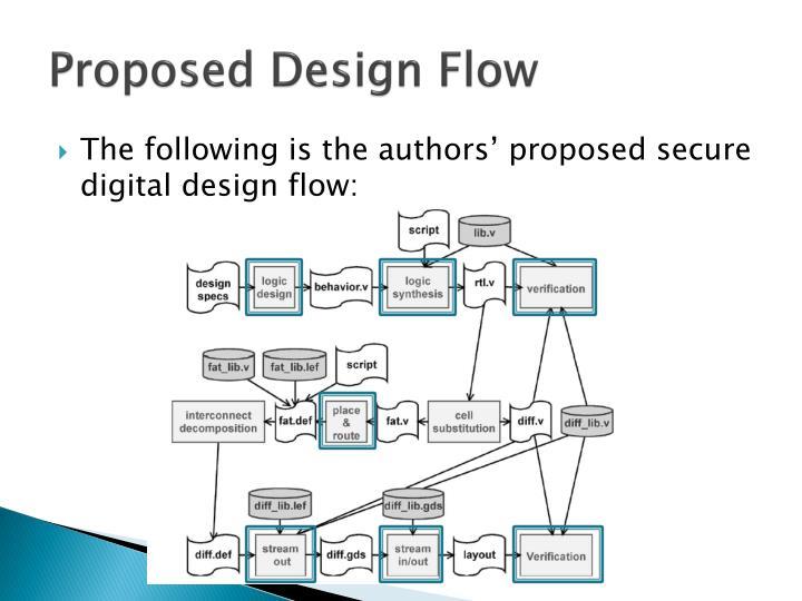 Proposed Design Flow