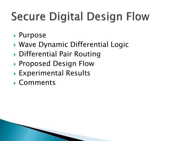 Secure Digital Design Flow