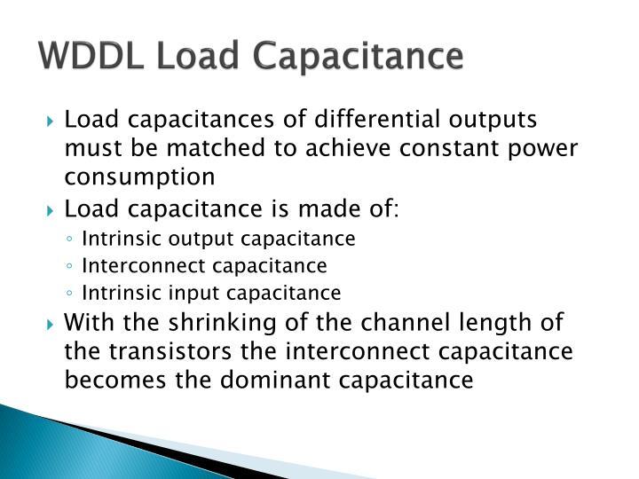 WDDL Load Capacitance