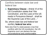 conflicts between state law and federal law