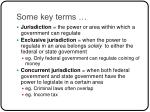 some key terms