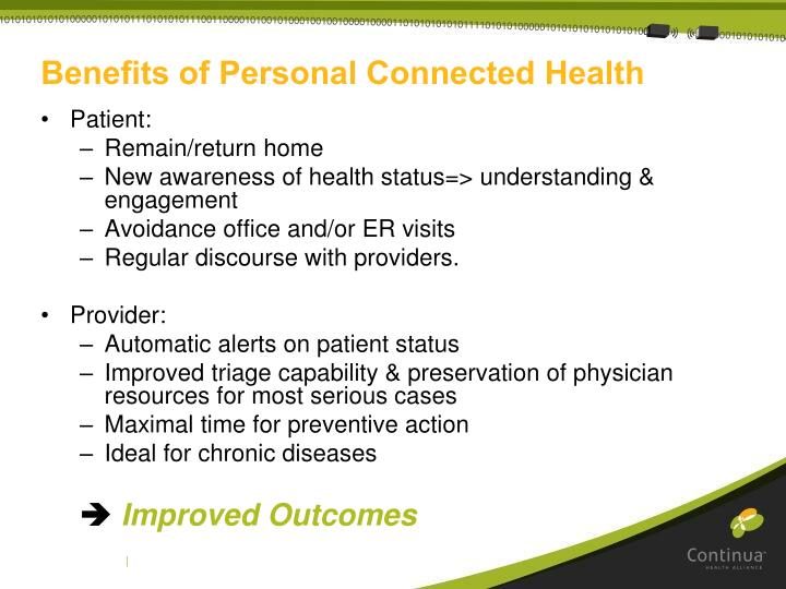Benefits of Personal Connected Health
