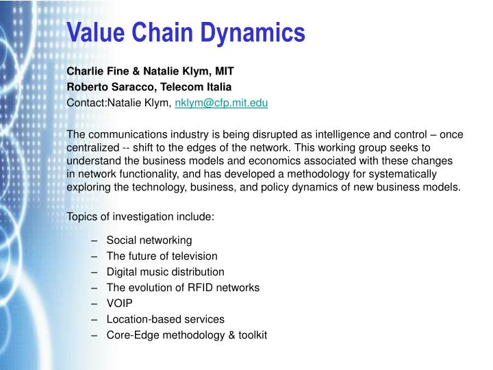 Value Chain Dynamics