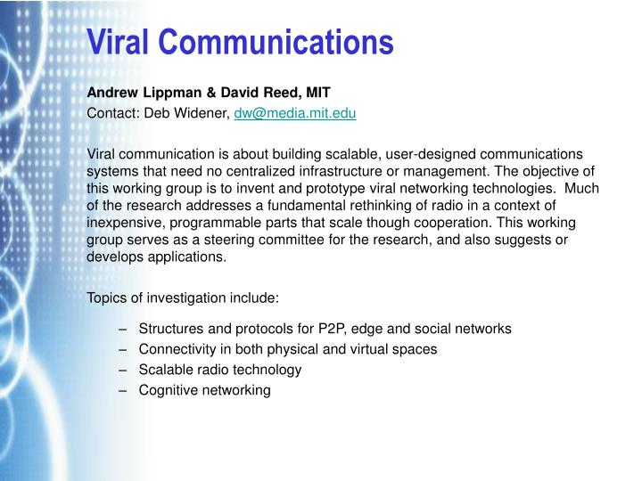 Viral Communications