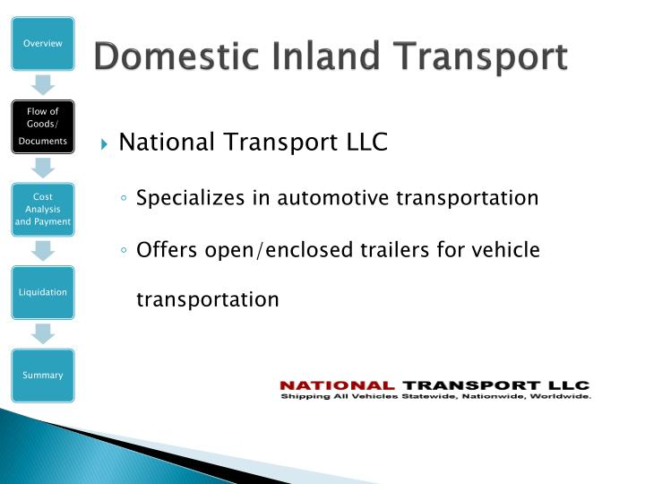 Domestic Inland Transport
