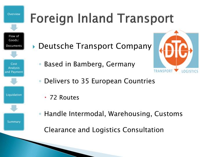 Foreign Inland Transport