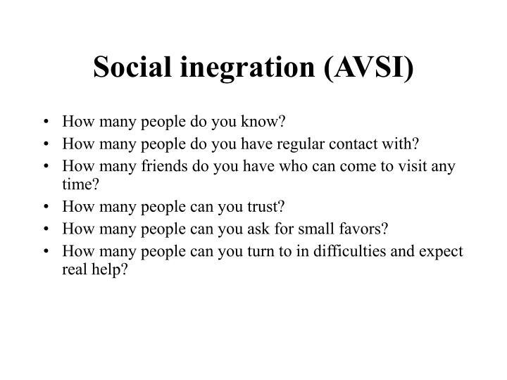 Social inegration (AVSI)