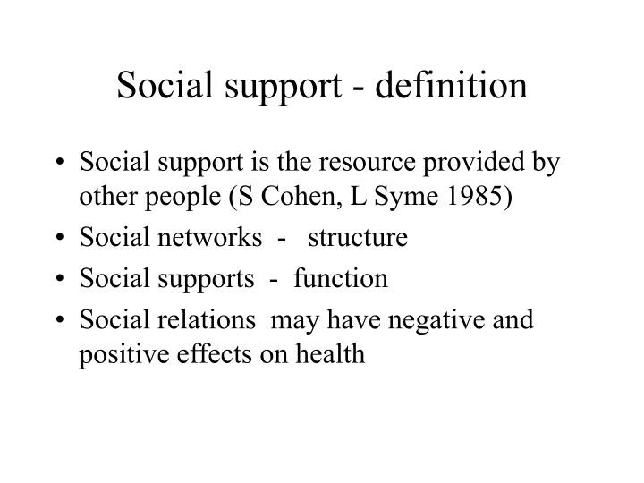 Social support - definition