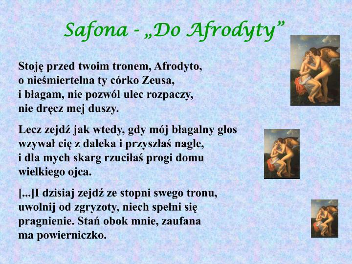 "Safona - ""Do Afrodyty"""