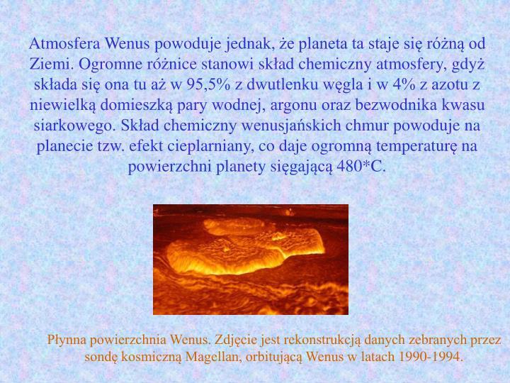Atmosfera Wenus powoduje jednak,