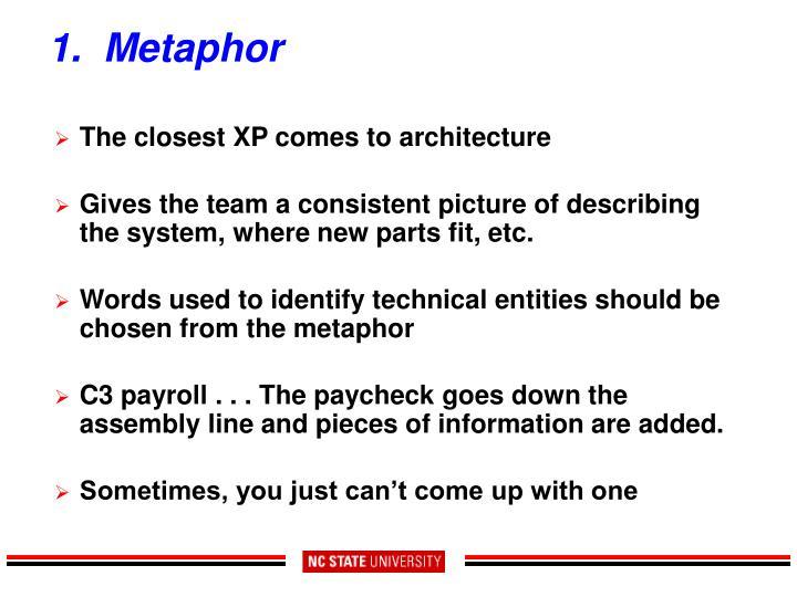 1.  Metaphor