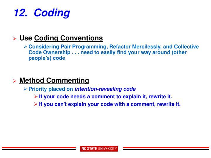 12.  Coding