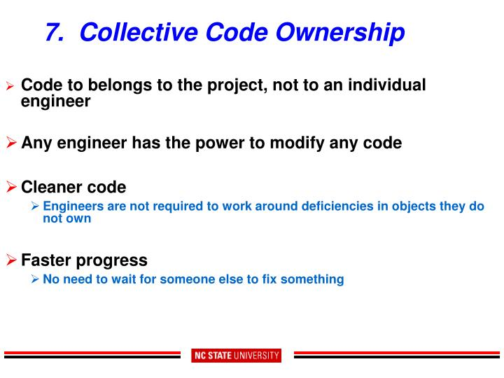 7.  Collective Code Ownership
