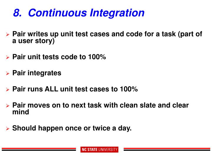 8.  Continuous Integration