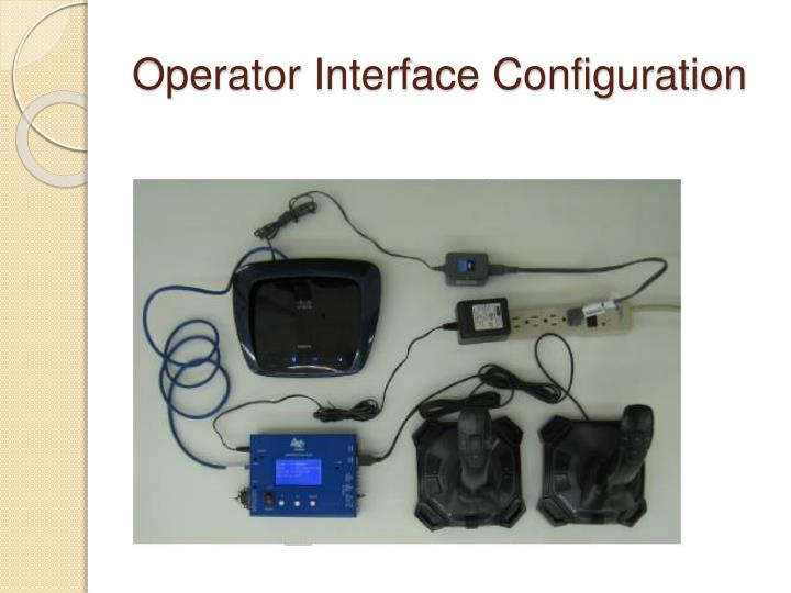 Operator Interface Configuration