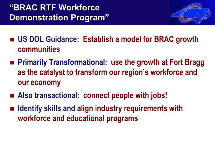 """""""BRAC RTF Workforce Demonstration Program"""""""