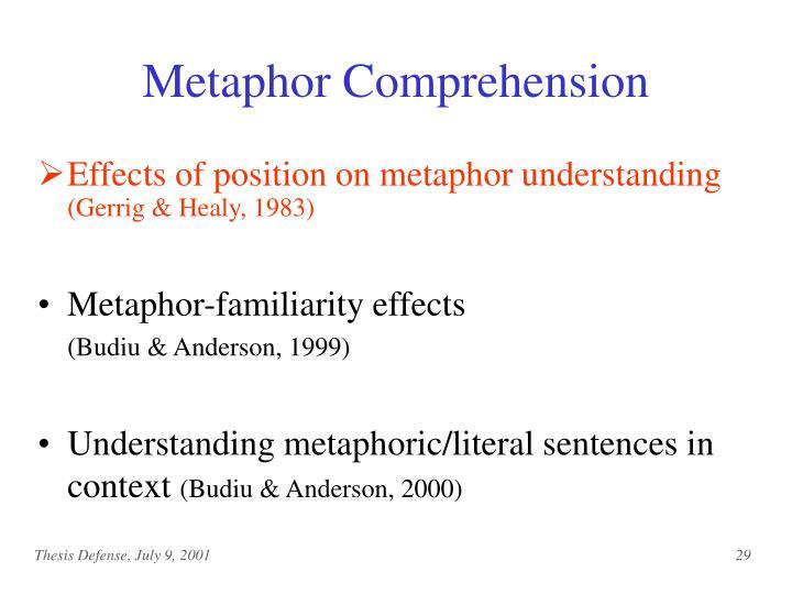 Metaphor Comprehension