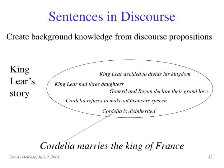 Sentences in Discourse