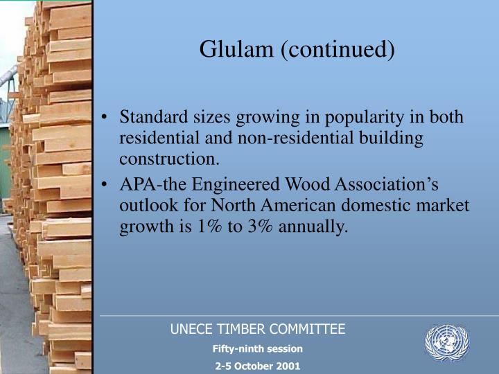 Glulam (continued)