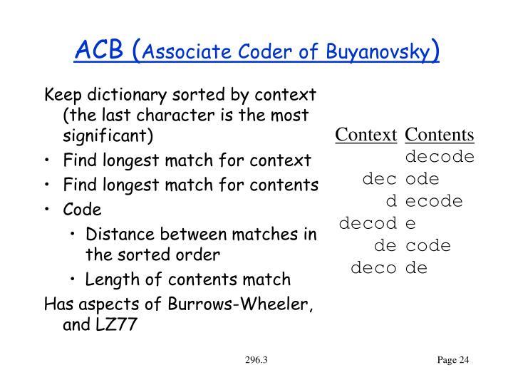 ACB (