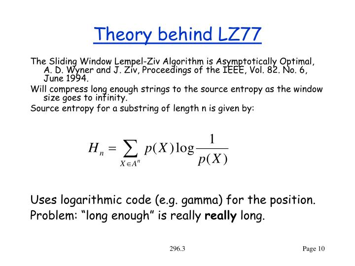 Theory behind LZ77