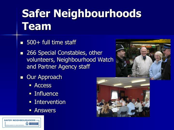 Safer Neighbourhoods Team