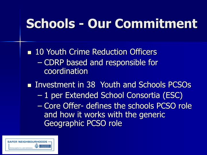 10 Youth Crime Reduction Officers