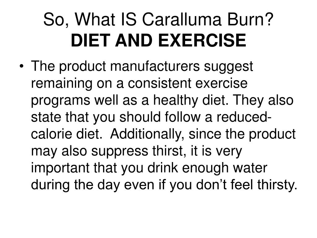 So, What IS Caralluma Burn?