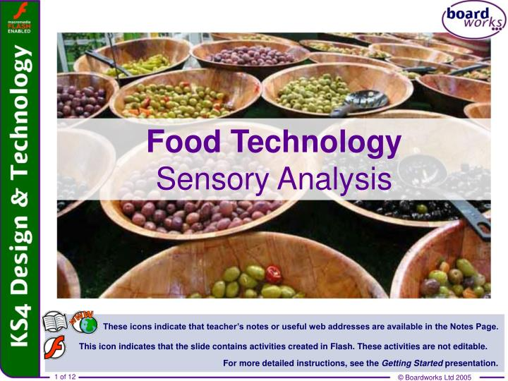 a description of the work of sensory analysis Sensory evaluation of food but humans are tough measuring instruments to work methodologies and analysis techniques of sensory evaluation and.