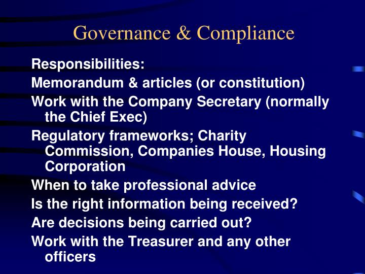 Governance & Compliance