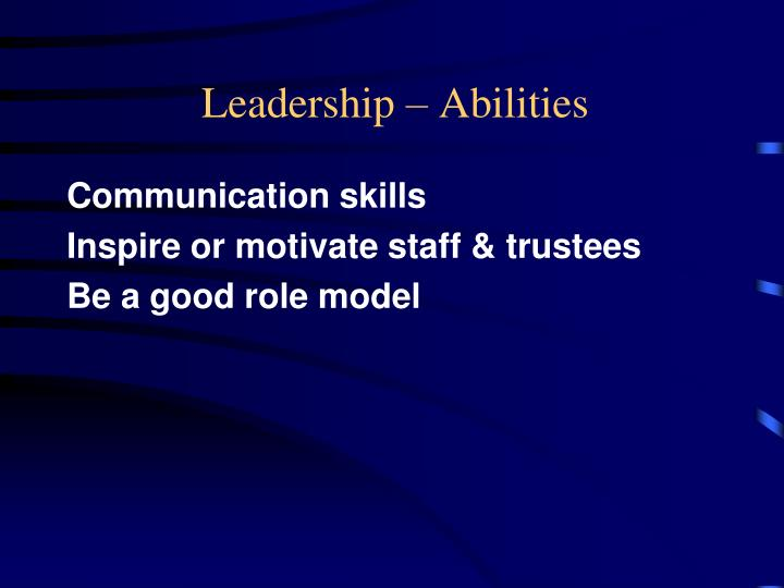 Leadership – Abilities