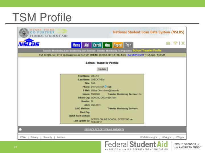 TSM Profile
