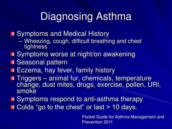 Diagnosing Asthma