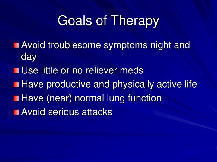 Goals of Therapy