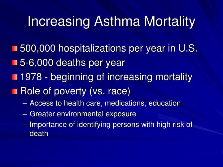 Increasing Asthma Mortality