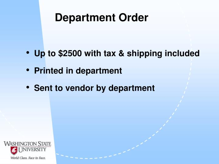 Department Order