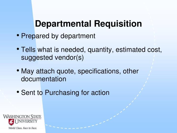 Departmental Requisition