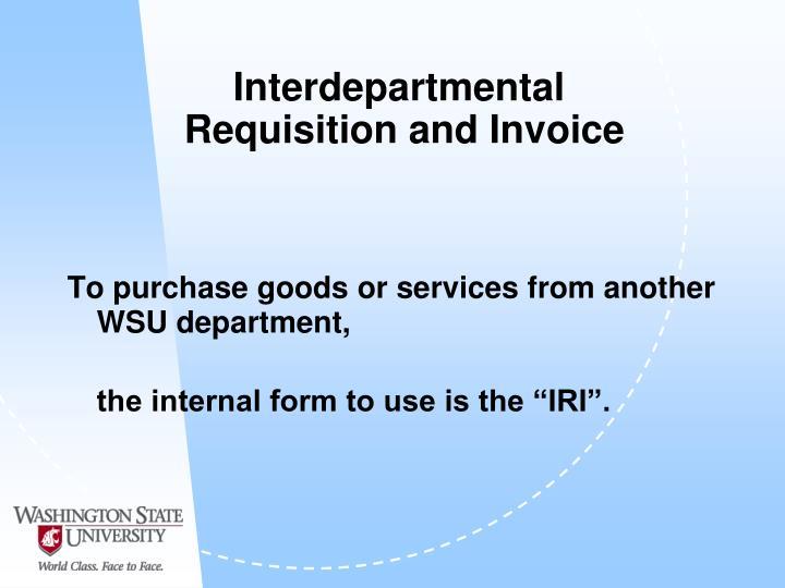 Interdepartmental