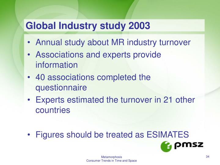 Global Industry study 2003