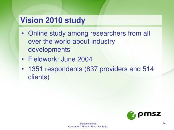 Vision 2010 study