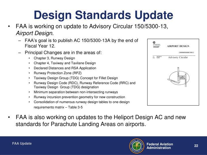 Design Standards Update
