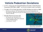 vehicle pedestrian deviations
